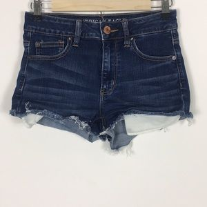 American Eagle Hi-Rise Cut-Off Jean Shorts